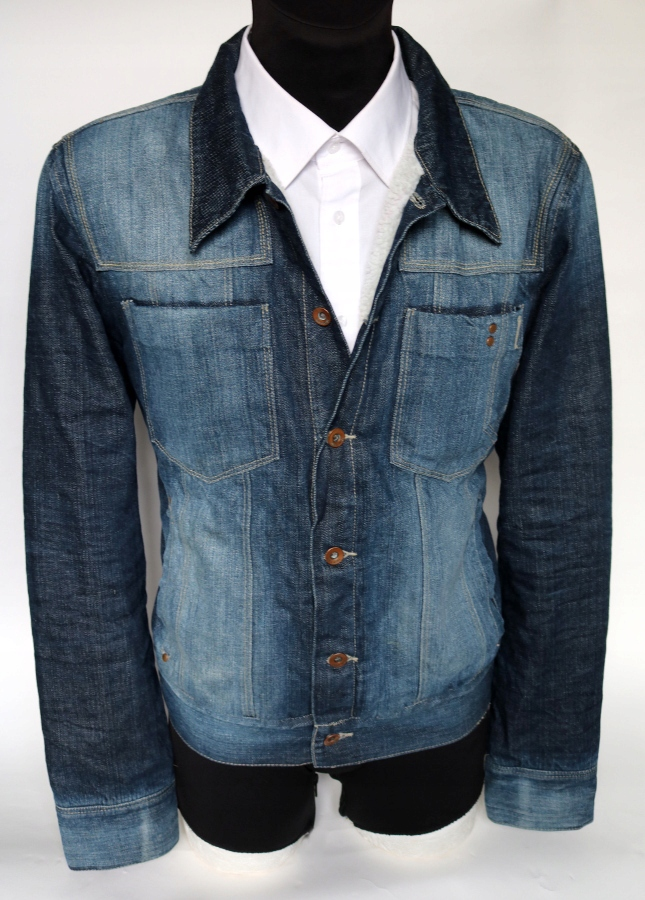 Jack&Jones kurtka jeansowa z kożuchem SLIM L