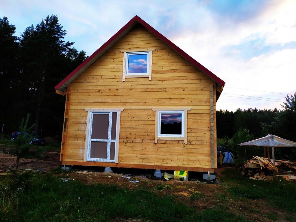 Piękny Drewniany dom z bala 10 cm z montażem 66m2