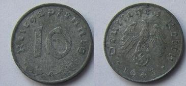 Niemcy 10 reischpfennig 1943 A