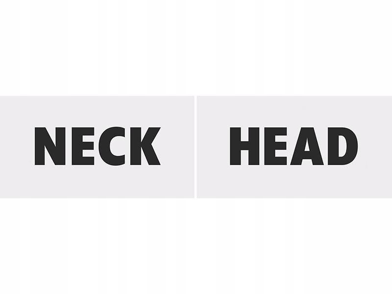 Tabliczki tekturowe Head & Neck 80 szt.
