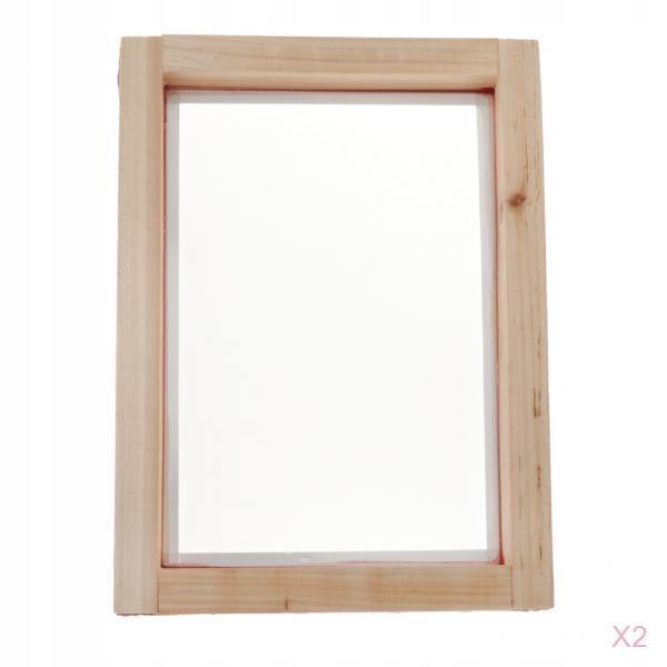 2 . Drewniane ekrany do sitodruku, rama sitodruku