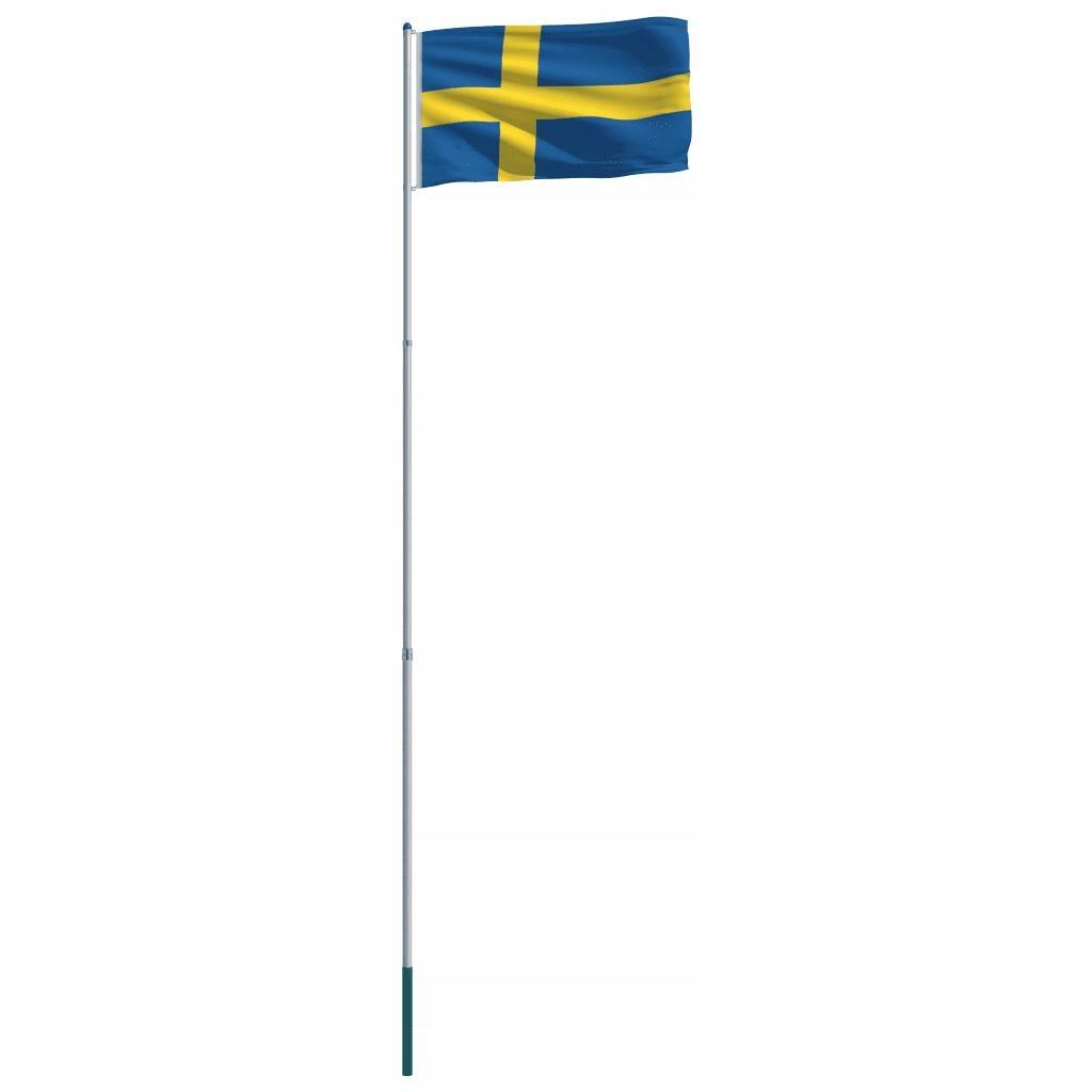 Flaga Szwecji Z Aluminiowym Masztem 6 m