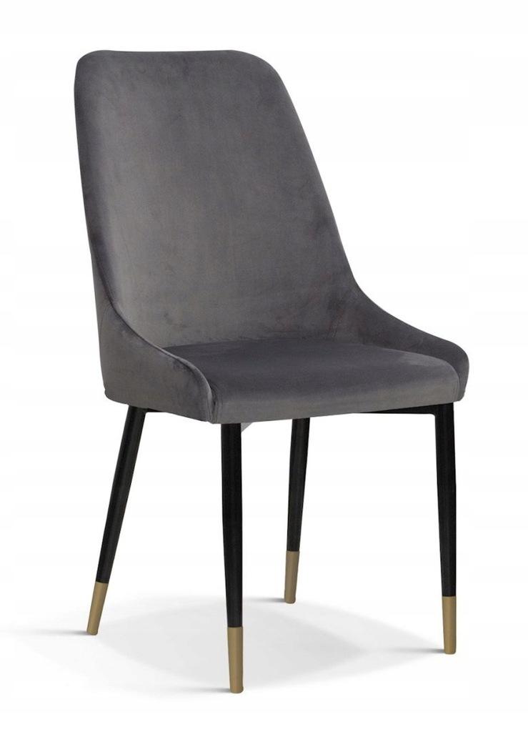Krzesło OLIVIER M szary/ noga czarno-złota/ BL14