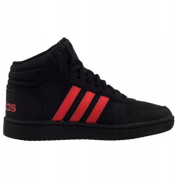 Buty damskie adidas Hoops Mid czarne za kostkę