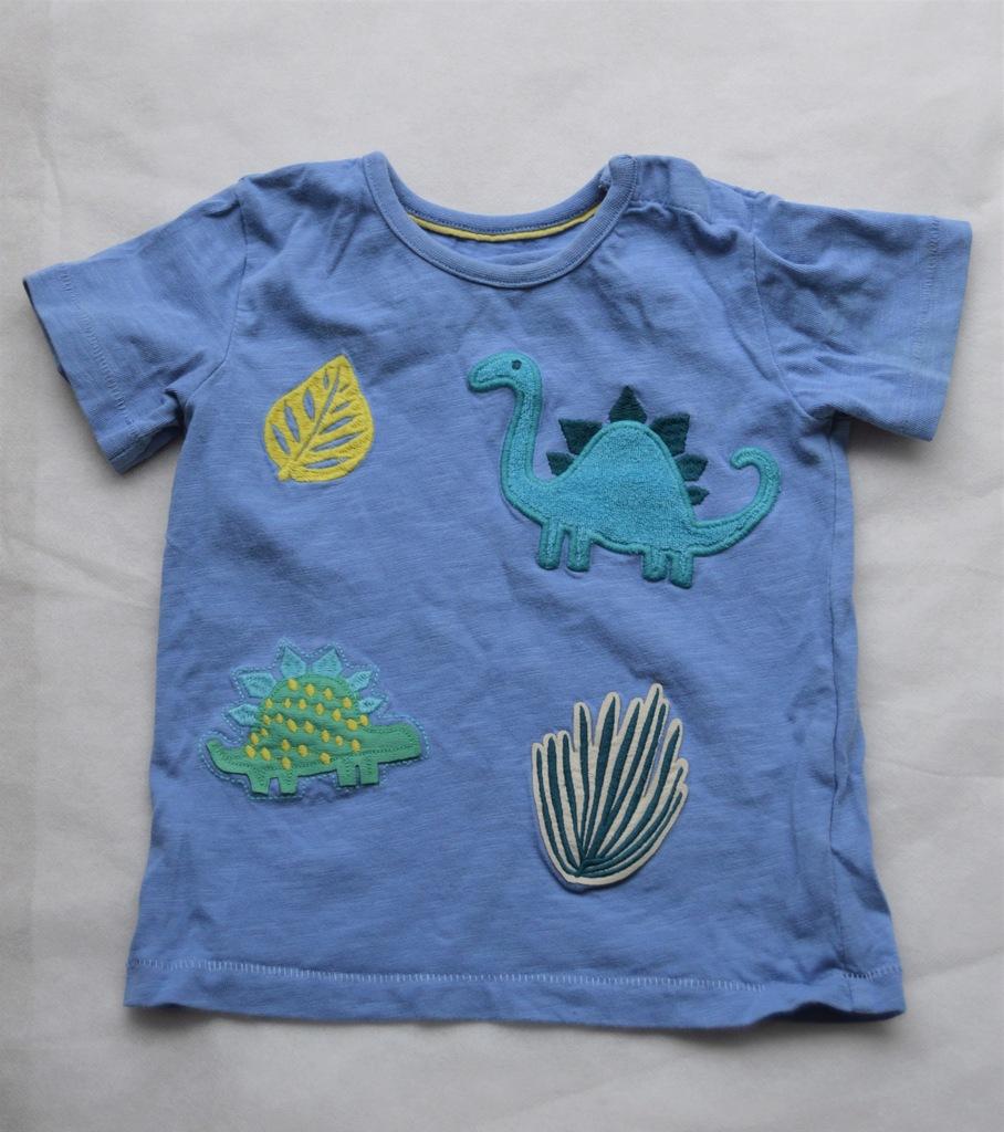 Bluzka M&S t-shirt dinozaury -- 12-18 mies.