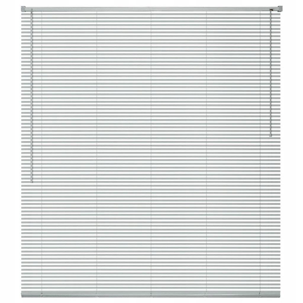 Żaluzja aluminiowa, srebrna 120x130 cm