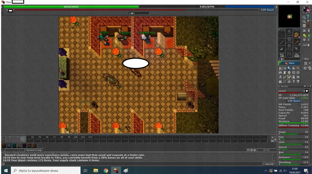 Tibia 460~ Rp 126 dist, 30% loy N-pvp + conf