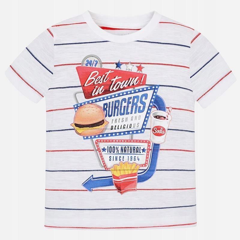 Koszulka krótki rękaw 'hamburger' roz. 122 MAYORAL