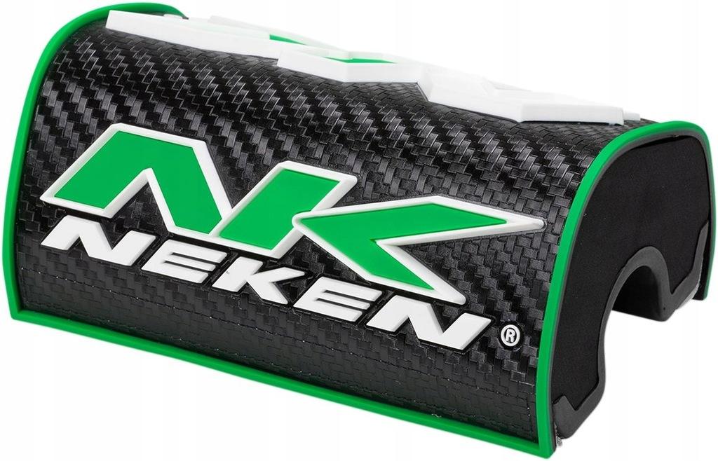 Gąbka na kierownicę Neken 3D czarno-zieona
