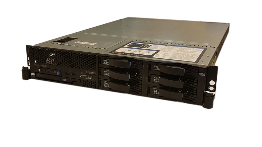 IBM X3650 7979 2X QC 2.5 48GHZ 6X146GB szyny 8K