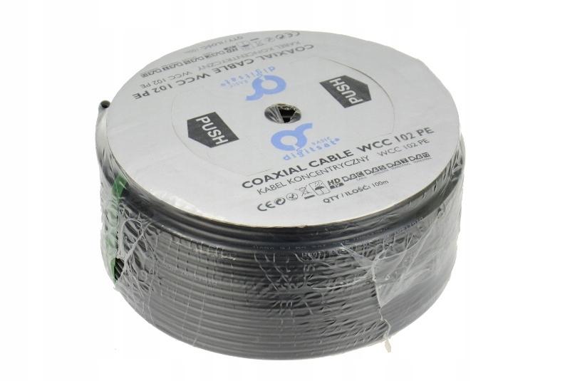 Kabel DIGITSAT Basic WCC 102 CU PE żel rolka 100mb