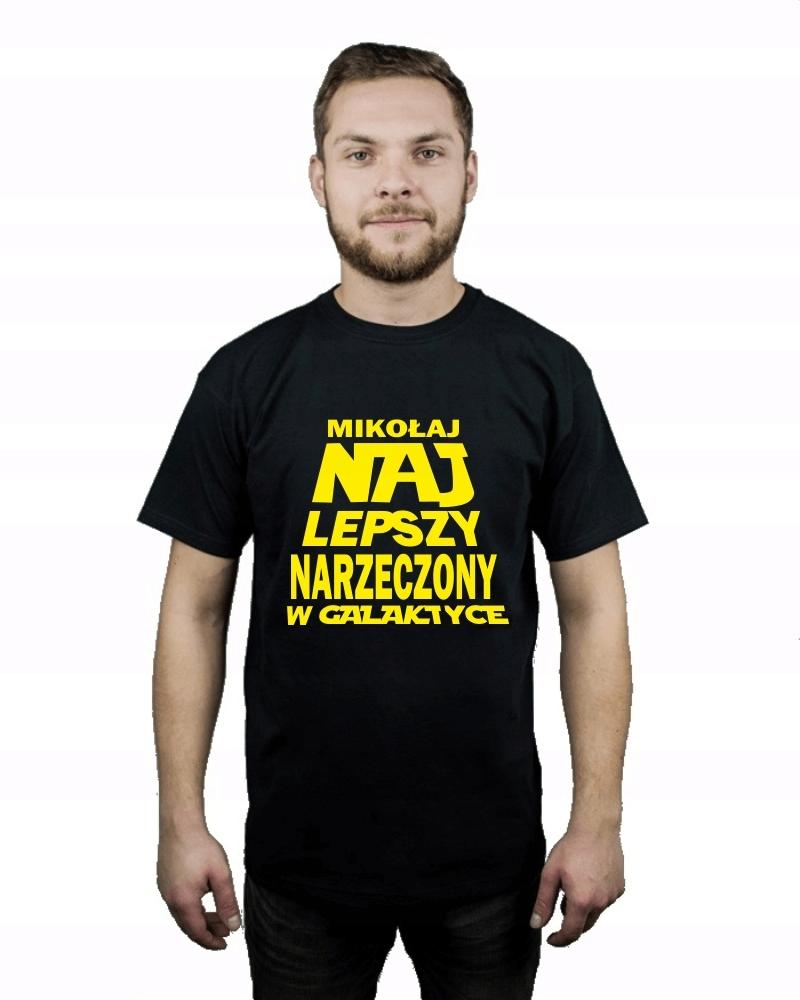 Koszulka męska !IMIĘ! NAJLEPSZY NARZECZONY r M