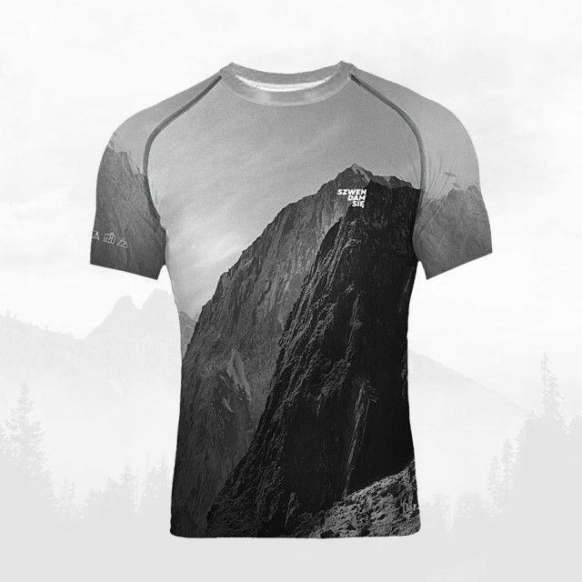 Koszulka termoaktywna męska - GÓRY obcisła - L