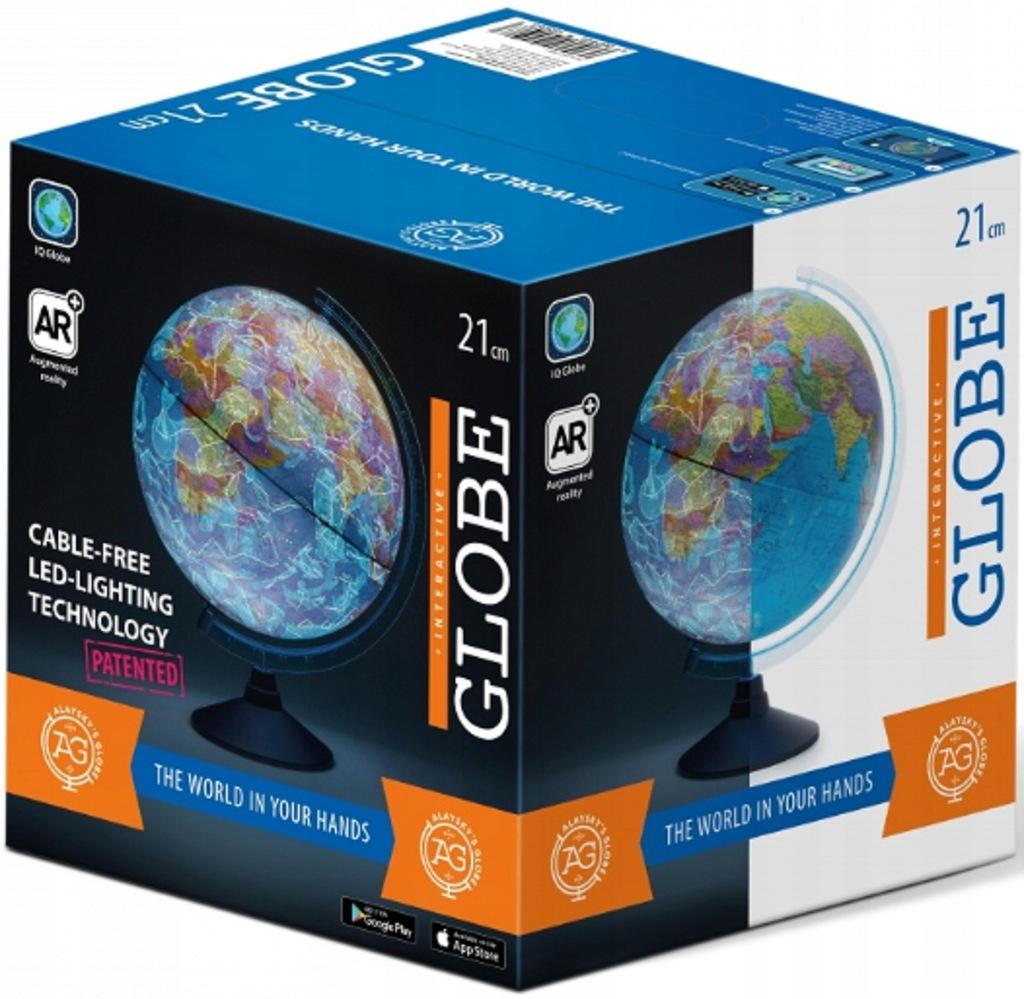 Interaktywny Globus 21 cm LED Aplikacja ALAYSKY