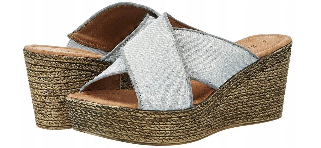 LINEA SUPREMO buty platformy klapki sandały - 38
