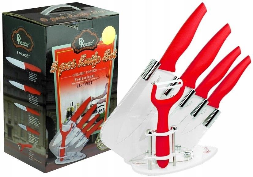 Noże ze stali szlachetnej - 5 + Stojak