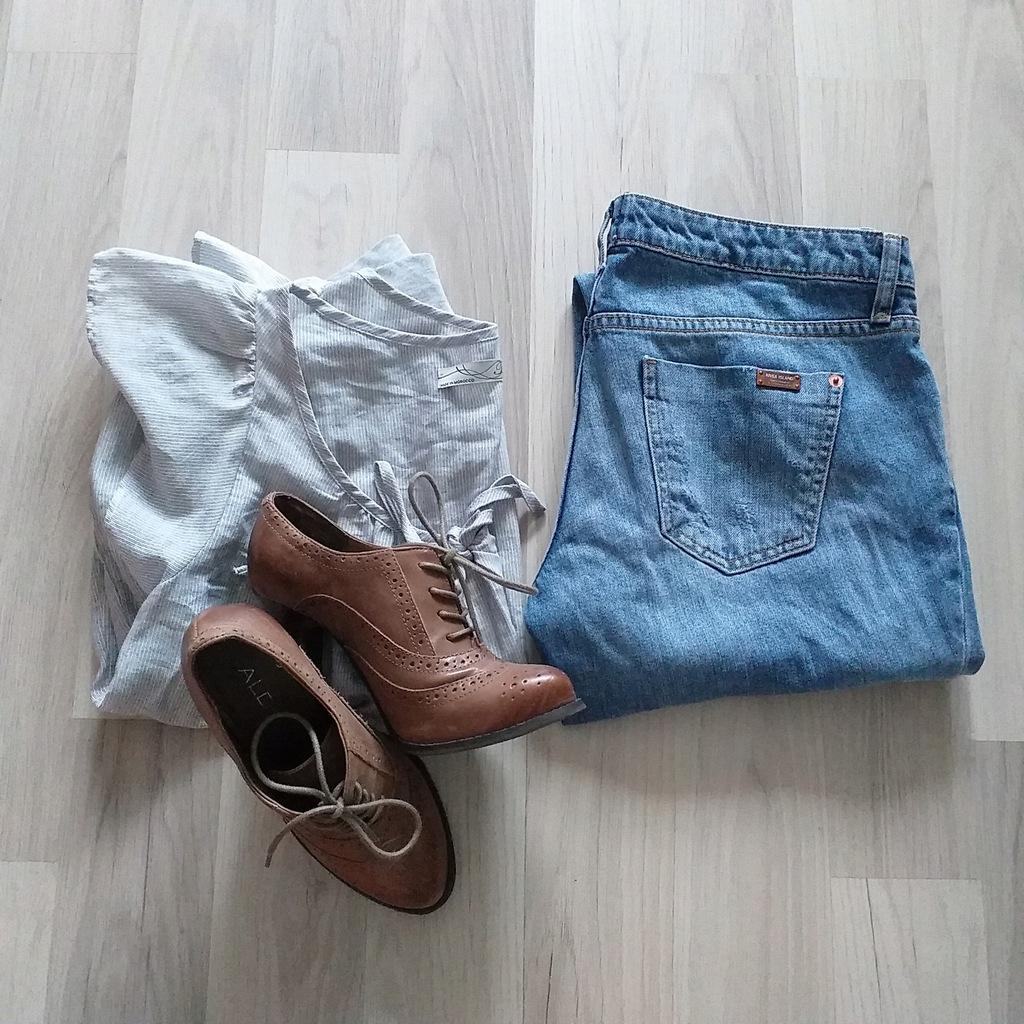 River Island jeansy 36+Aldo+biżuteria