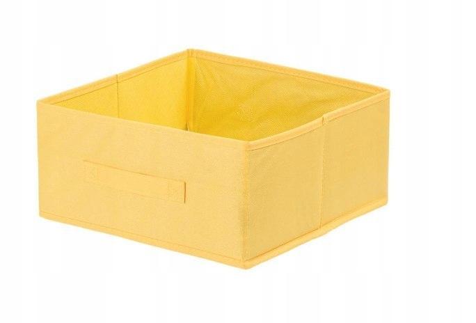 Pudełko tekstylne ANABEL 15x31x31cm żółte 14,5l sz