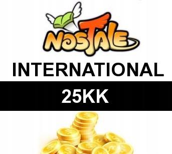 NOSTALE INTERNATIONAL 25KK GOLD ZŁOTO 25KK