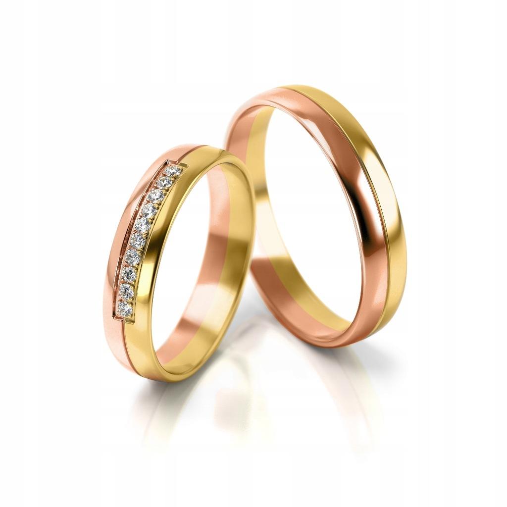 Złote obrączki ślubne 318 ST pr.585 3 mm