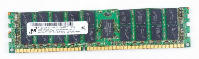 500203-061 HP 4GB  2RX4 PC3-10600R MEMORY MODULE MT36JSZF51272PZ-1G4G1FF