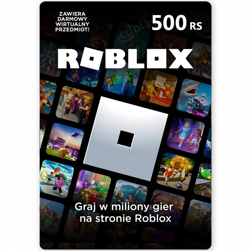 ROBLOX 500 RS ROBUX - KOD PODARUNKOWY - KARTA
