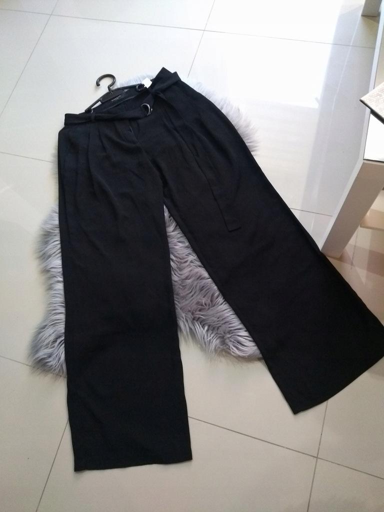 Reserved spodnie lejące dzwonkowe wysoka talia