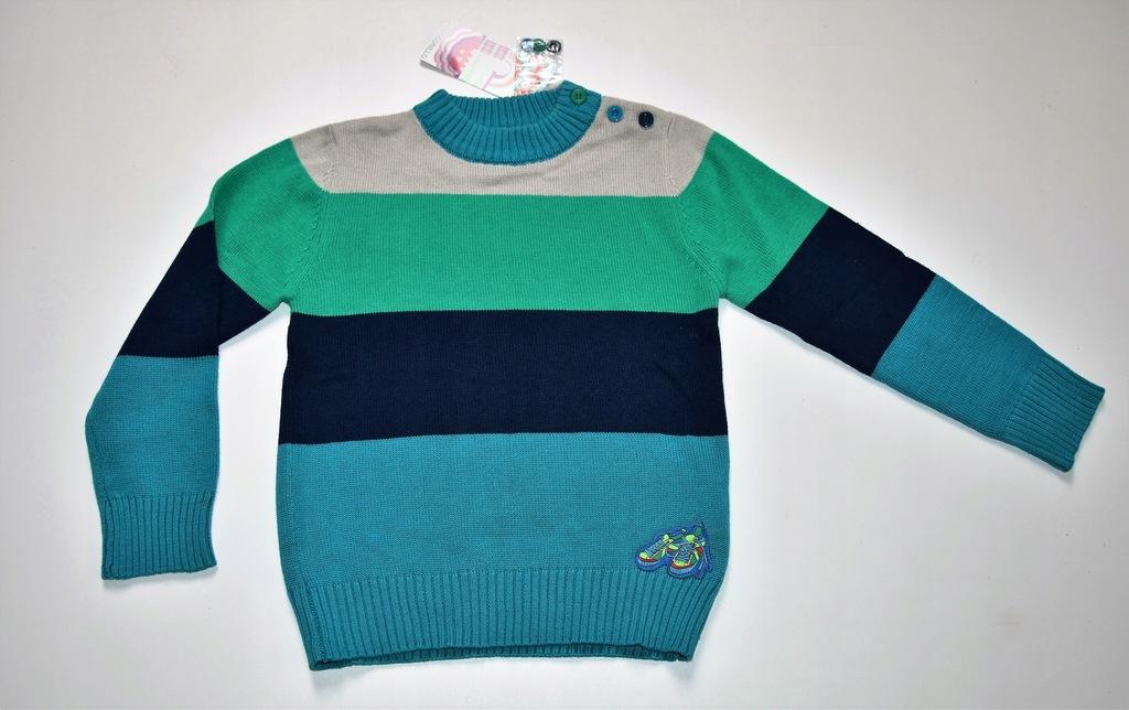 kolorowy sweterek paski coccodrillo 116