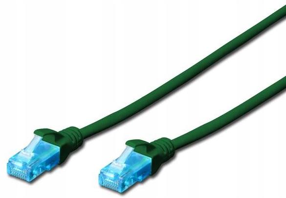 Patch cord U/UTP kat.5e PVC 5m zielony
