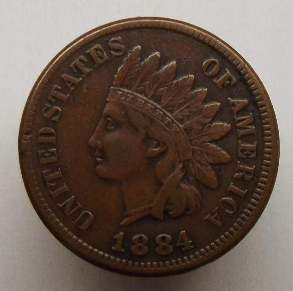 1884 r. - 1 cent
