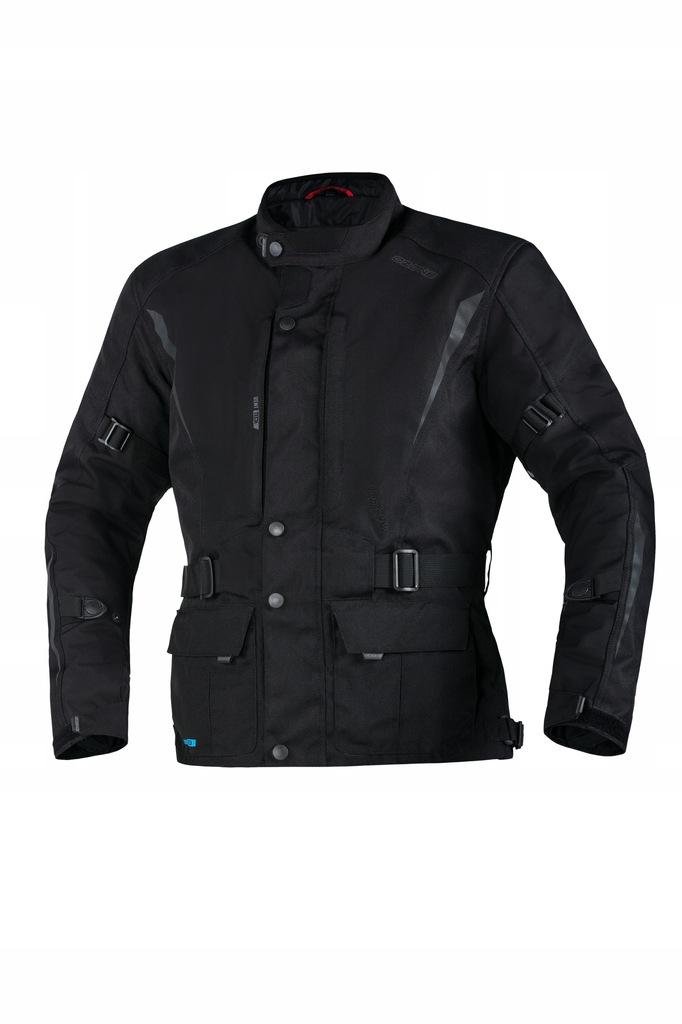 OZONE TRAKER BLACK długa kurtka tekstylna +gratis