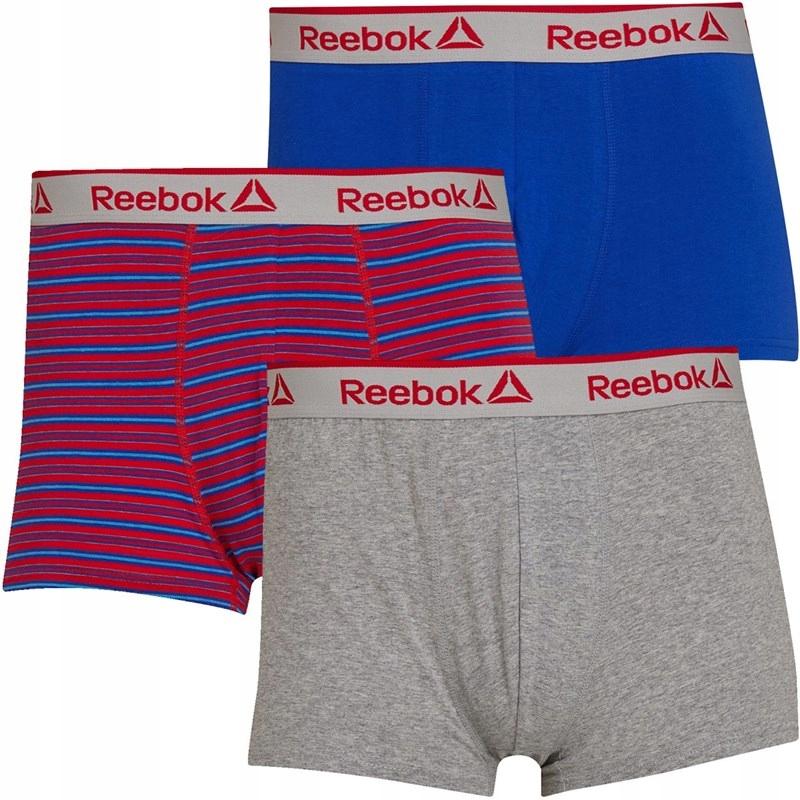 REEBOK - klasyczne bokserki męskie, trójpak S.