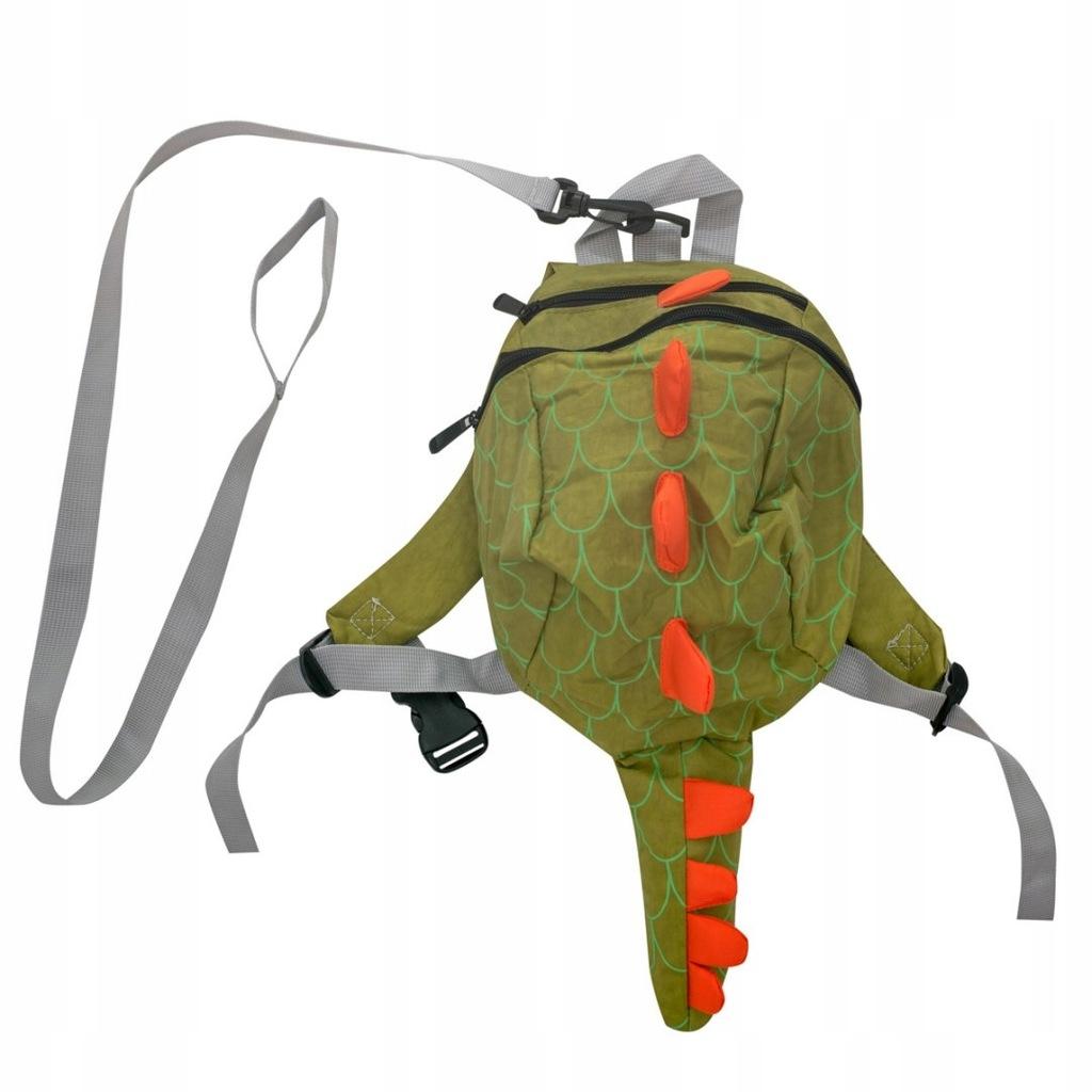 Plecak przedszkolny smok wodoodporny zielony/żółty
