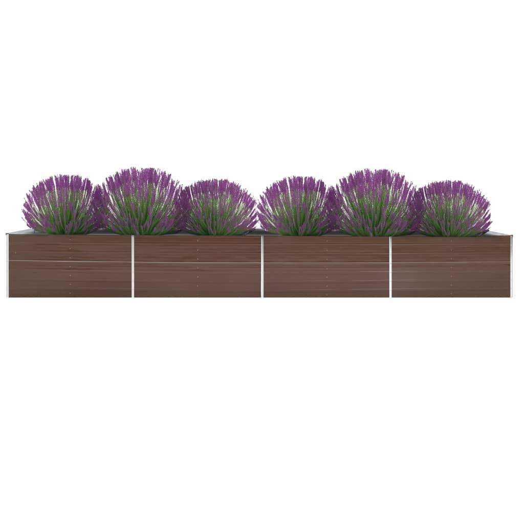 Donica ogrodowa z galwanizowanej stali, 600x80x45