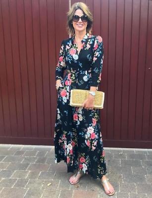 ZARA piękna sukienka maxi w kwiaty M