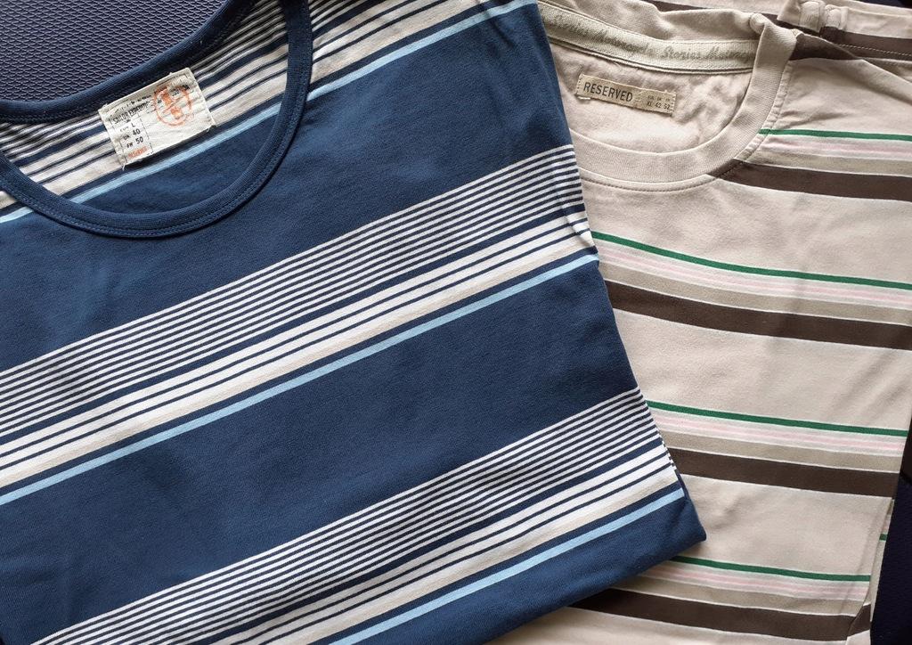 2 koszulki marki RESERVED, rozmiar L i XL
