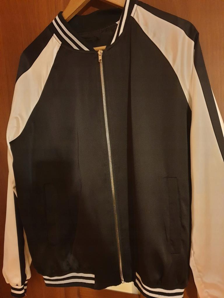 kurtka czarno biała bomberka damska