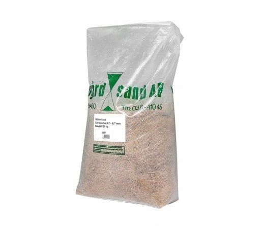 Piasek do piaskowania filtrowany 25 kg