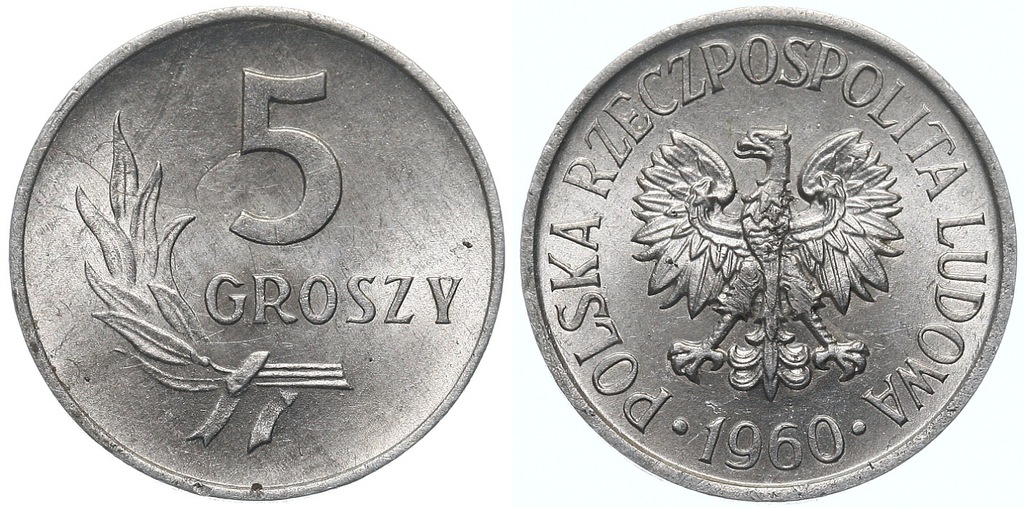 228.Polska - PRL - 5 groszy - 1960 - St.1- #A