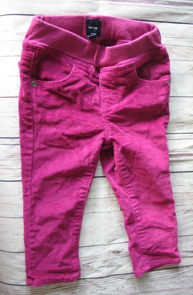 Spodnie sztruks BABY GAP 12-18 miesięcy r.80