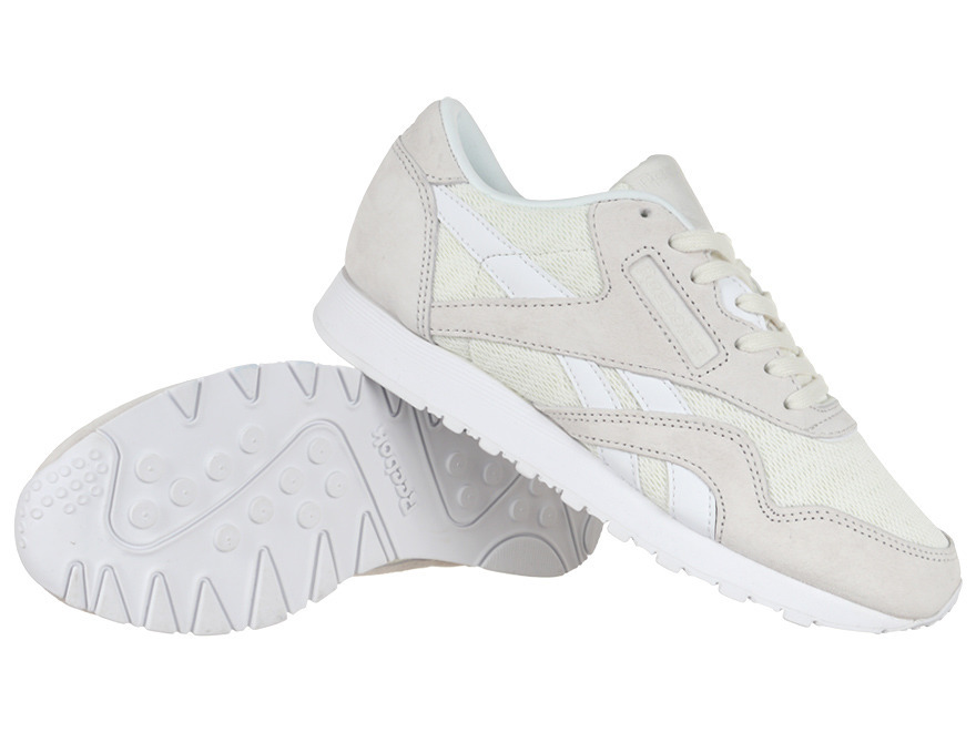 Buty Damskie Reebok CL Nylon Slim Core •cena 124,00 zł•Białe