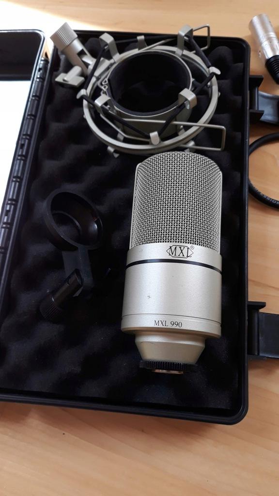 Mikrofon Pojemnościowy MXL 990 + Kabel