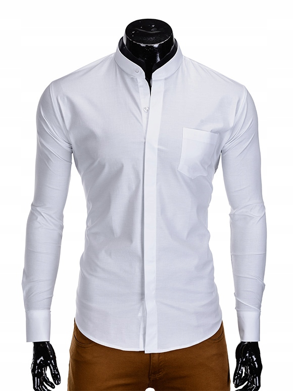 Koszula męska stójka gładka wesele K307 biała XXL  L1Vat