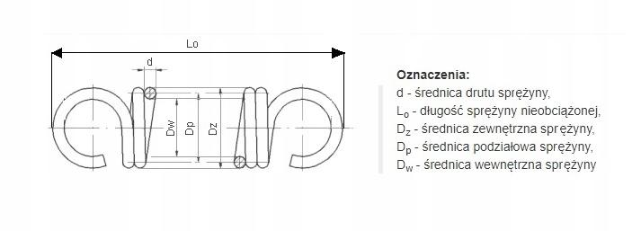 Sprężyna naciągowa NIERDZEWNA 3,2 mmx23x42x75 4szt