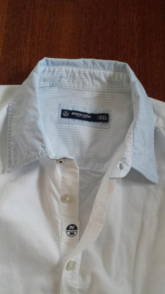 NORTH SAILS biała koszula piękne wstawki z logo XL