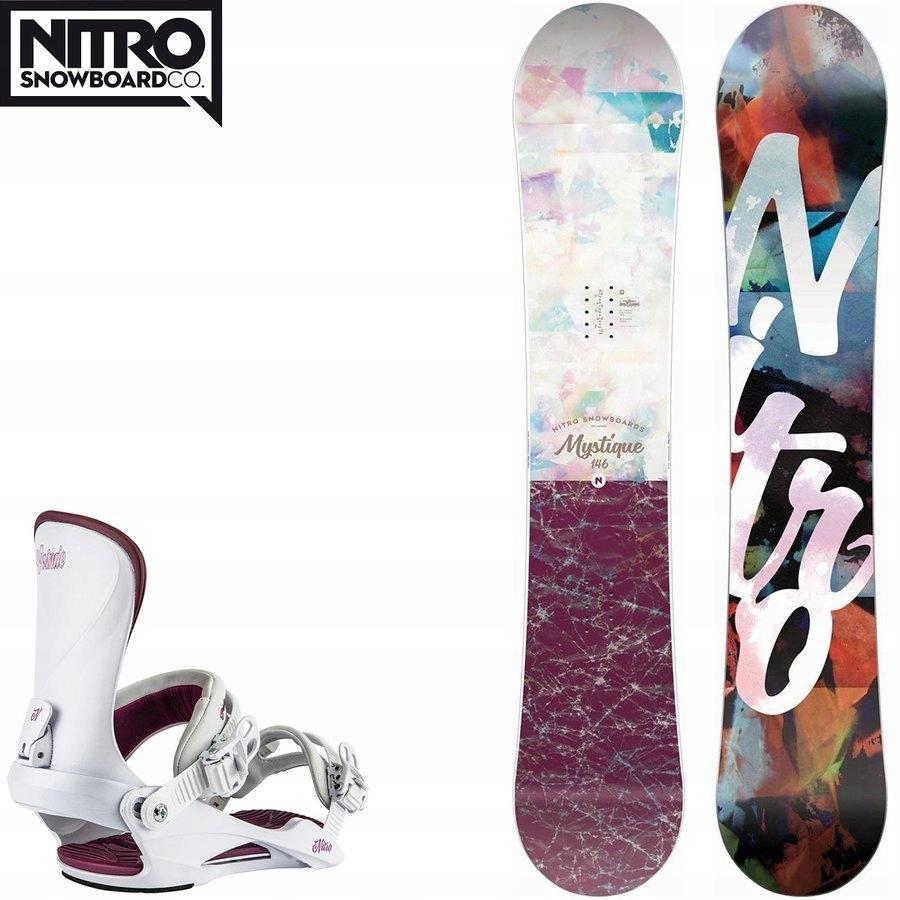 Snowboard Mystique GULLWING + wiązania Cosmic