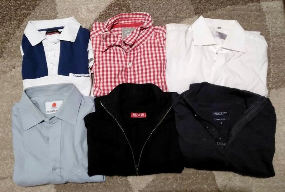Zestaw koszule swetry Pierre Cardin FILA XL / L
