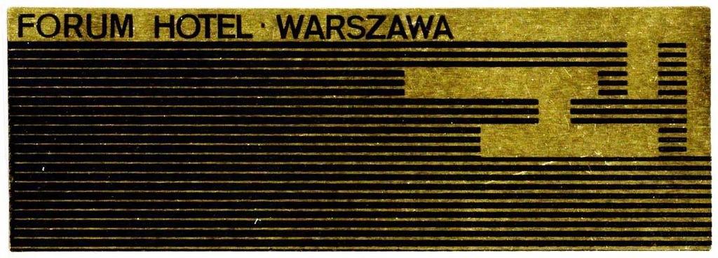 Naklejka turystyczna hotel Forum Warszawa