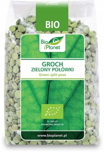 BIO PLANET Groch zielony połówki BIO 400g