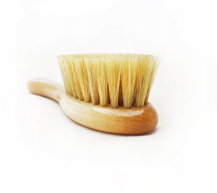 Szczotka z naturalnego włosia +myjka LULLALOVE